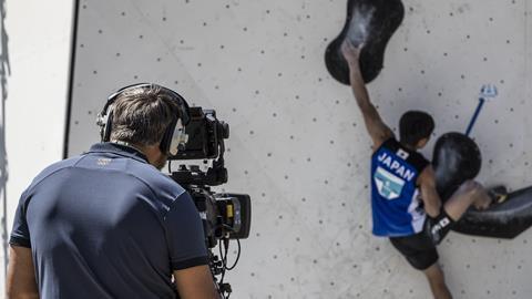 Olympics climbing camera